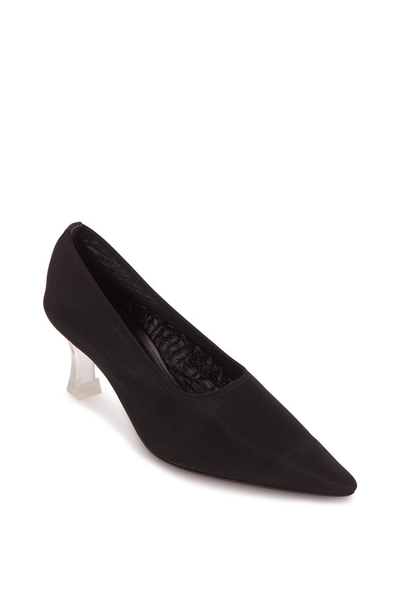 The Row Black Mesh Lucite Heel Sock Pump, 65mm