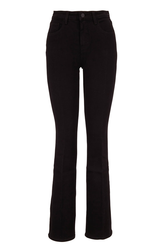 L'Agence Oriana Black High-Rise Straight Leg Jean