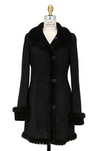 Viktoria Stass - Black Shearling, Suede & Mink Fur Reversible Coat