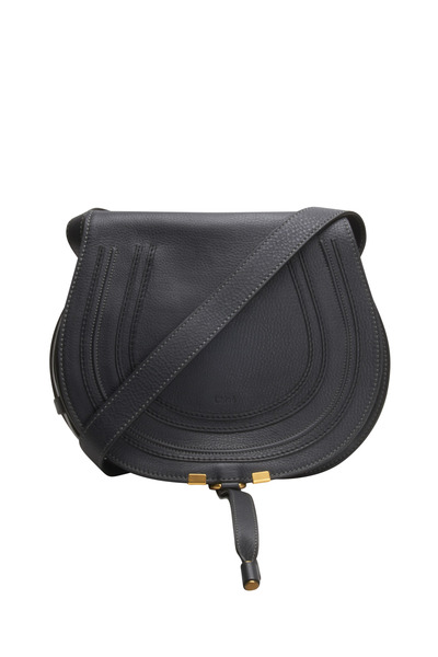 Chloé - Marcie Black Leather Small Flap Handbag