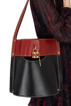 Chloé - Aby Black Leather Padlock Medium Bucket Bag