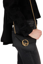 Fendi - Black Leather Small Belt or Crossbody Bag