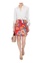 Carolina Herrera - Chili Red Floral Mini Skirt