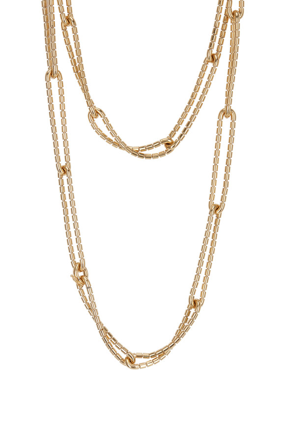 Sidney Garber 18K Yellow Gold Flexible Golden Link Necklace