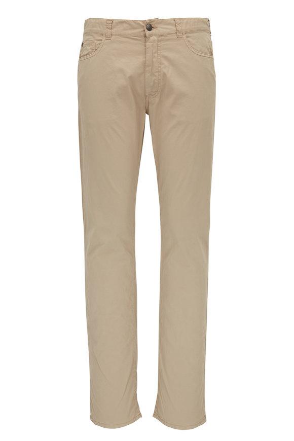 Canali Tan Five Twill Five Pocket Pant