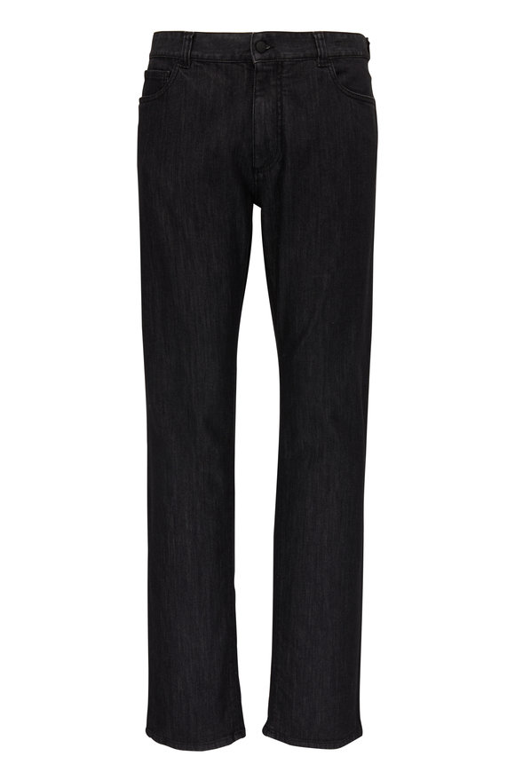 Canali Washed Black Five Pocket Jean