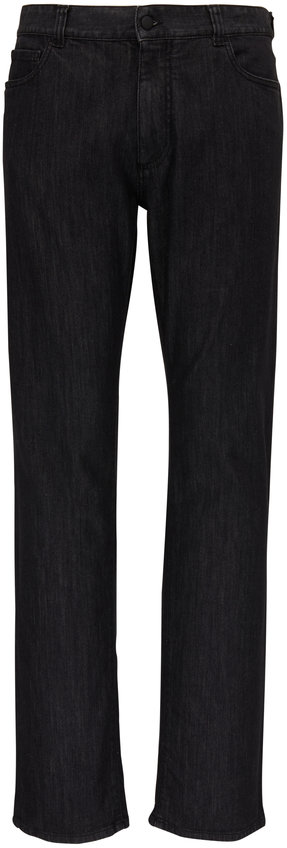 Canali Washed Black Five Pocket Jean