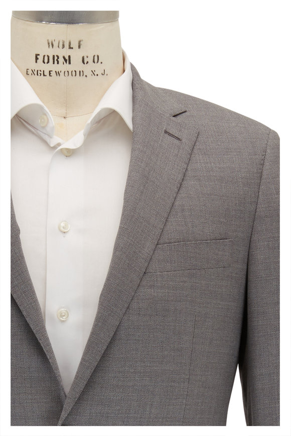 Atelier Munro Grey Stretch Wool & Silk Suit