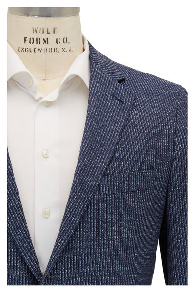 Atelier Munro - Navy Stretch Cotton Knit Sportcoat