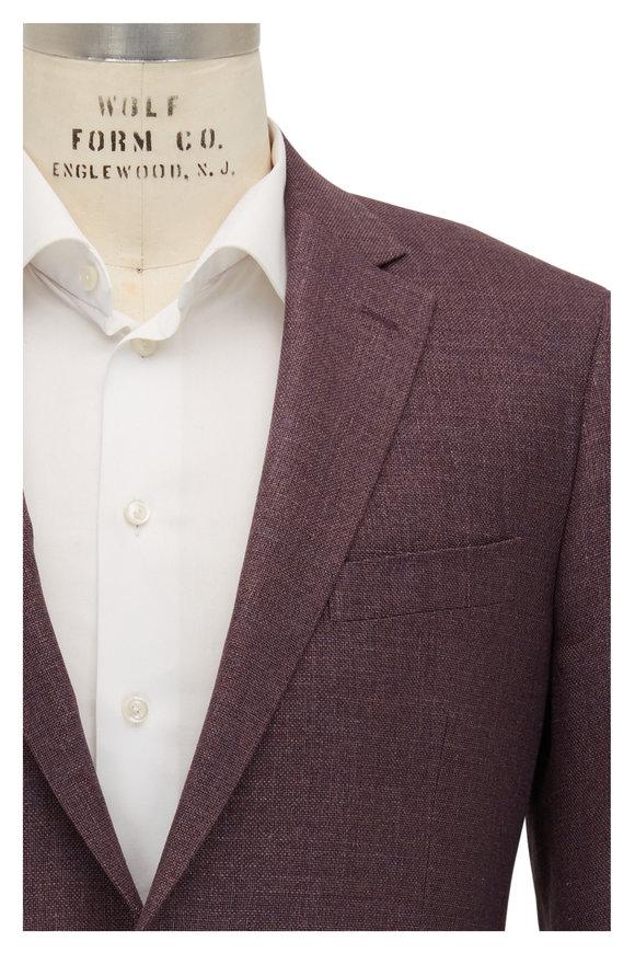 Atelier Munro Purple Hopsack Wool, Silk & Linen Sportcoat