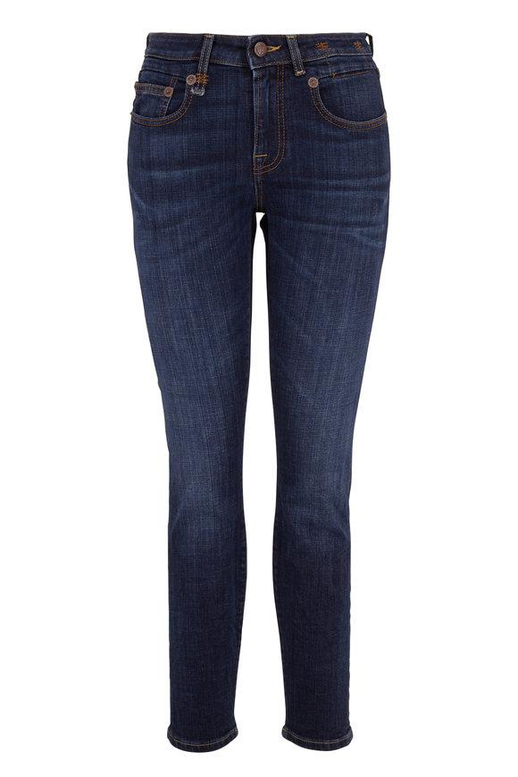 R13 Boy Norten Indigo Mid-Rise Skinny Jean