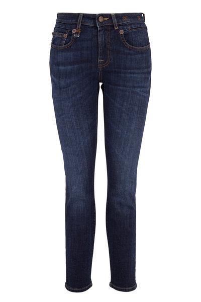 R13 - Boy Norten Indigo Mid-Rise Skinny Jean