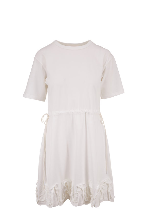 See by Chloé White Powder Cotton Short Sleeve Dress