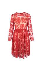Huishan Zhang - Scarlet Red Lace Dress