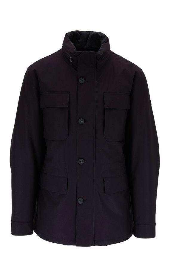 Z Zegna Navy Blue Nylon Compact Safari Jacket