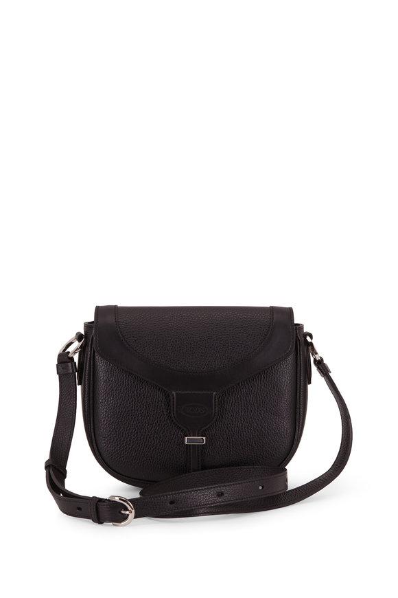 Tod's Mini Joy Black Grained Leather Crossbody Bag