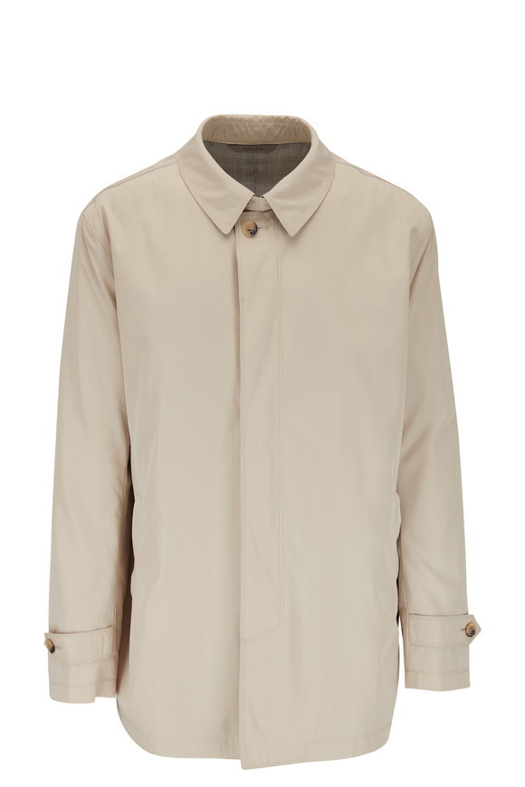 Canali Classic Tan Trench Coat