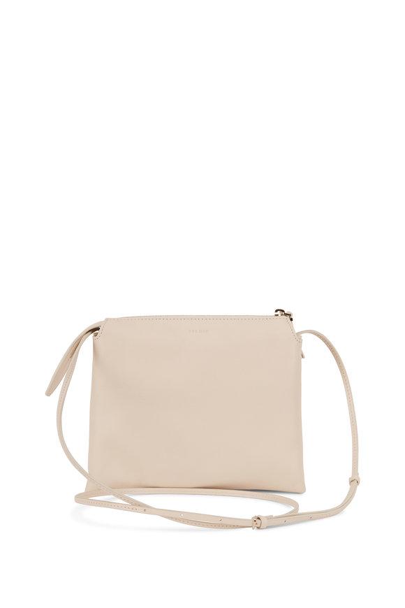 The Row Nu Mini Twin Ivory Leather Crossbody Bag