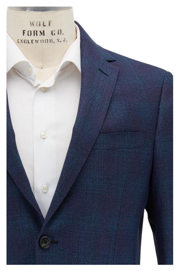 Maurizio Baldassari Blue Plain Weave Wool Sportcoat