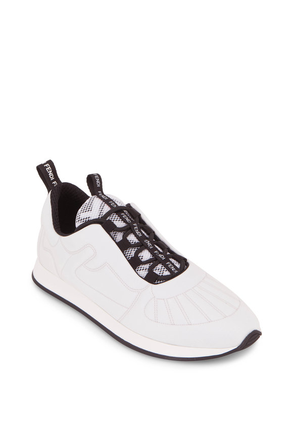 Fendi FFreedom White Leather Quilted Sneaker
