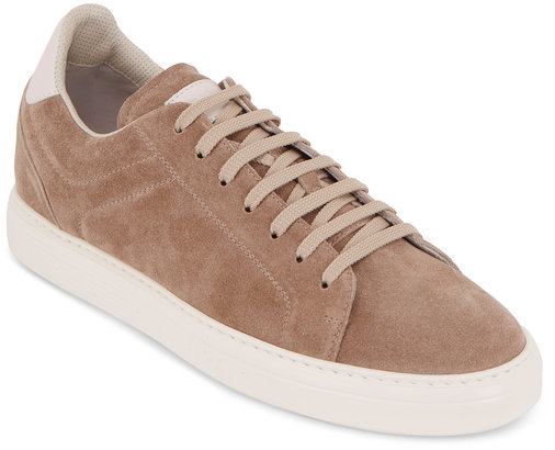Brunello Cucinelli Light Brown Suede Sneaker