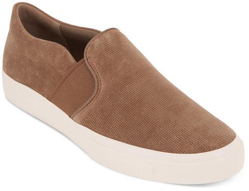 Vince  Fenton Flint Perforated Suede Slip-On Sneaker