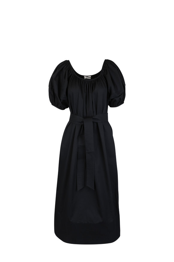 CO Collection Black Balloon Sleeve Midi Dress