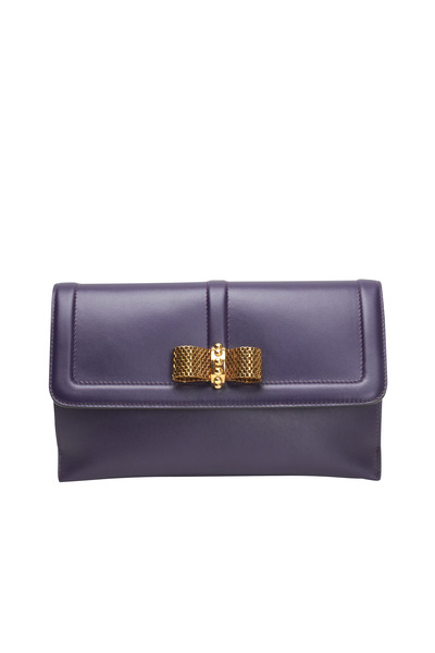Christian Louboutin - Iris Leather Flap Pouchette With Bow