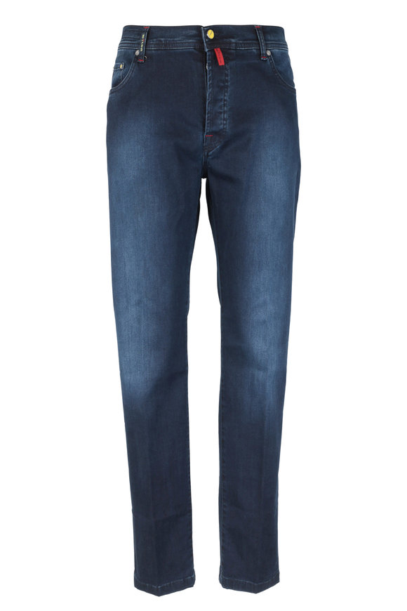 Kiton Dark Blue Five Pocket Pant