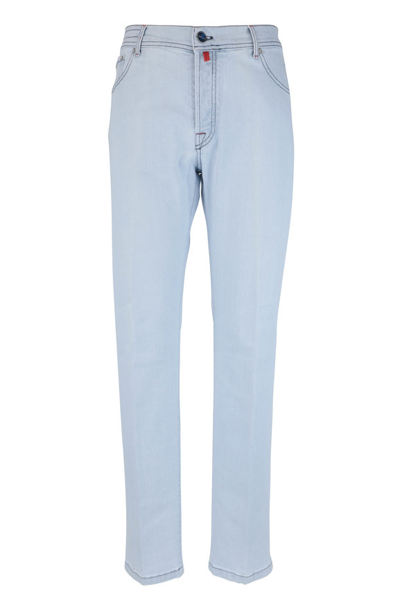 Kiton White Wash Five Pocket Pant