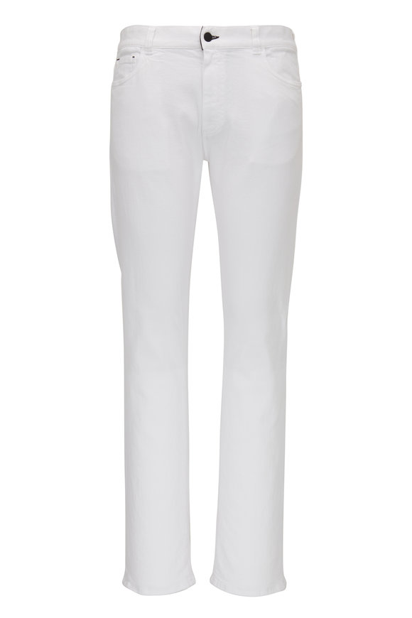 Canali White Regular Fit Jean