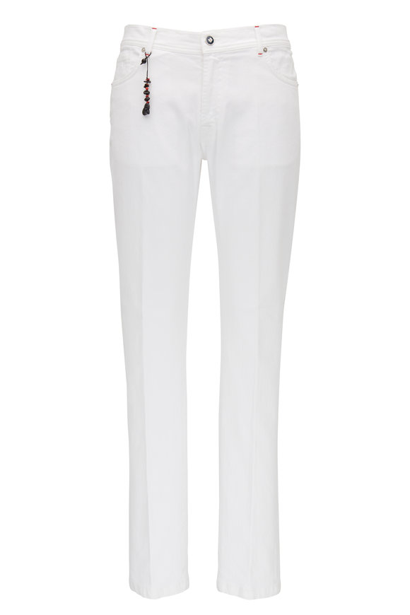 Marco Pescarolo White Five Pocket Jean