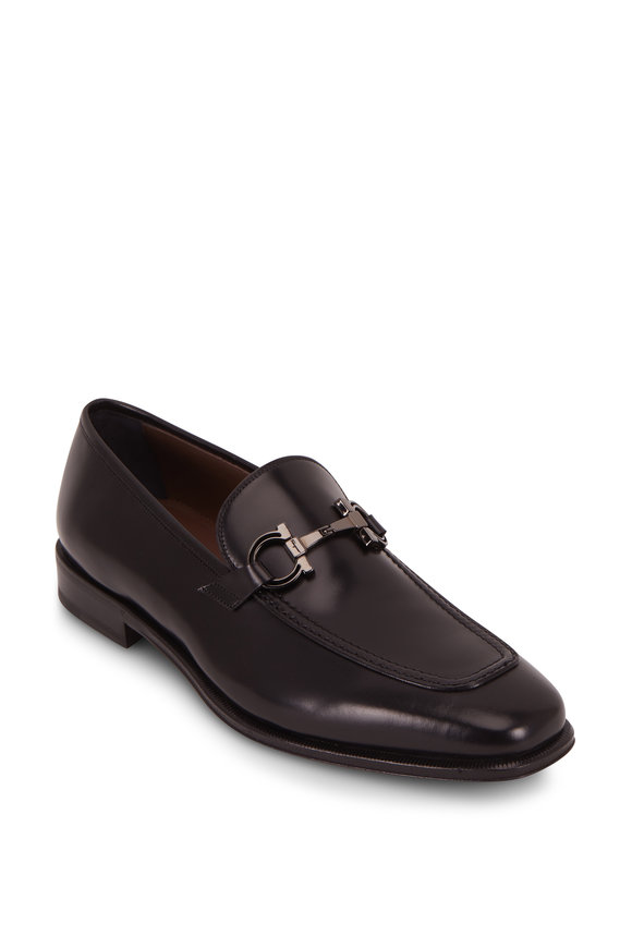 Salvatore Ferragamo Seattle Black Leather Bit Loafer