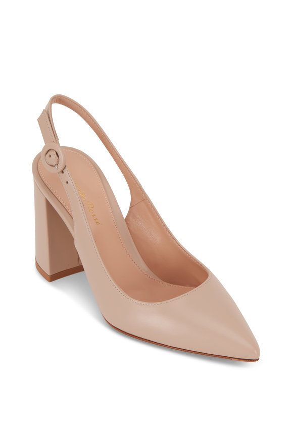 Gianvito Rossi Agata Mousse Vitello Slingback, 85mm