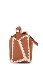 Loewe - Puzzle Tan Leather & Crochet Trim Top Handle Bag