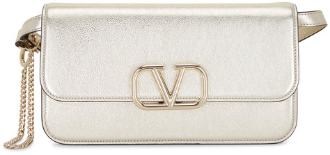 Valentino Garavani V-Sling Sahara Metallic Belt Convertible Bag