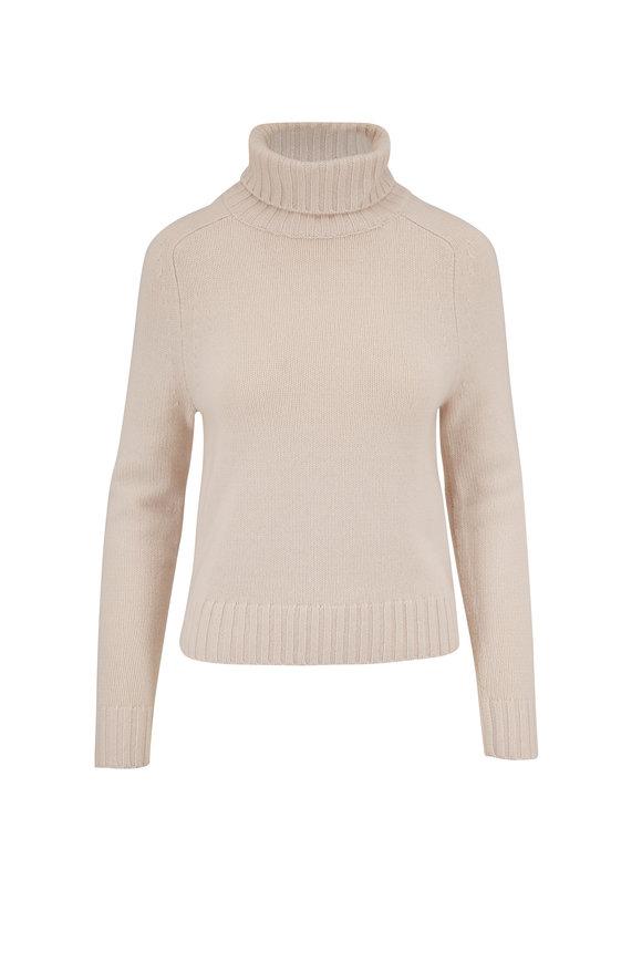 Nili Lotan Atwood Ivory Cashmere Turtleneck Sweater