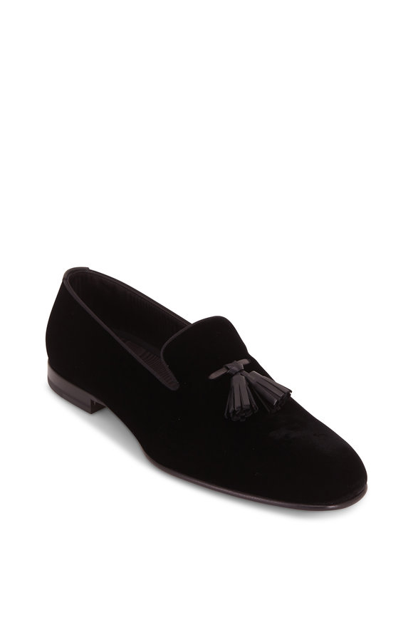 Tom Ford Black Velvet Tassel Formal Loafer
