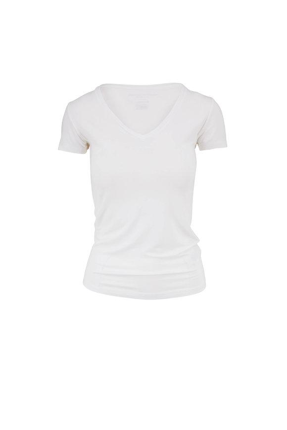 Majestic White Superwashed V-Neck T-Shirt