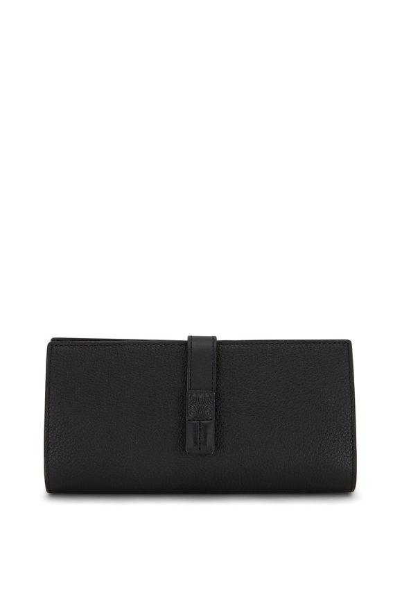 Loewe Black Grained Leather Large Vertical Wallet