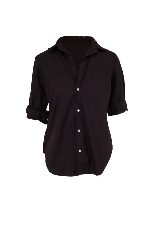 Frank & Eileen Frank Black Cotton Button Down