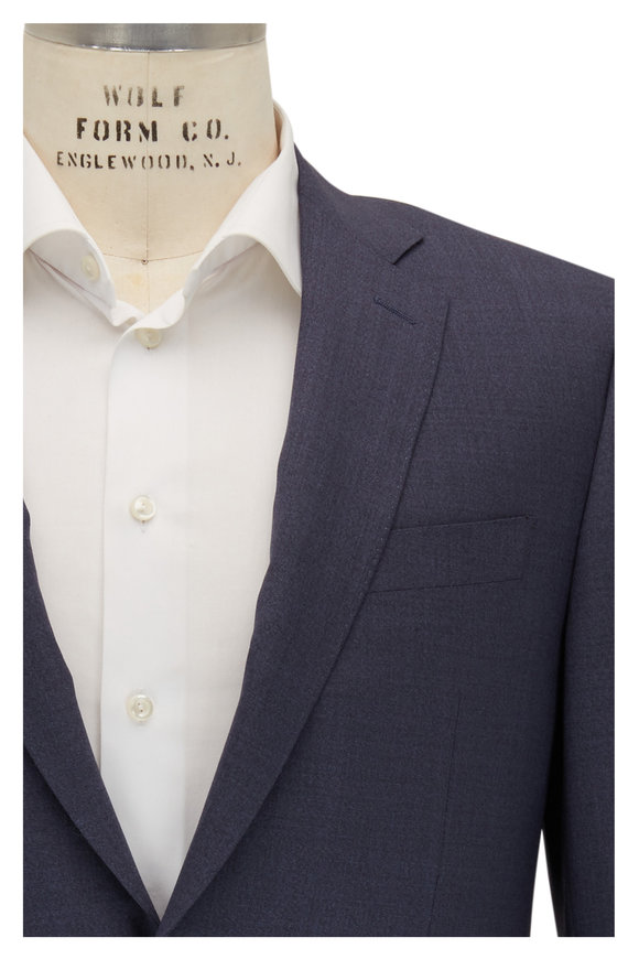 Canali Navy Blue Wool Suit