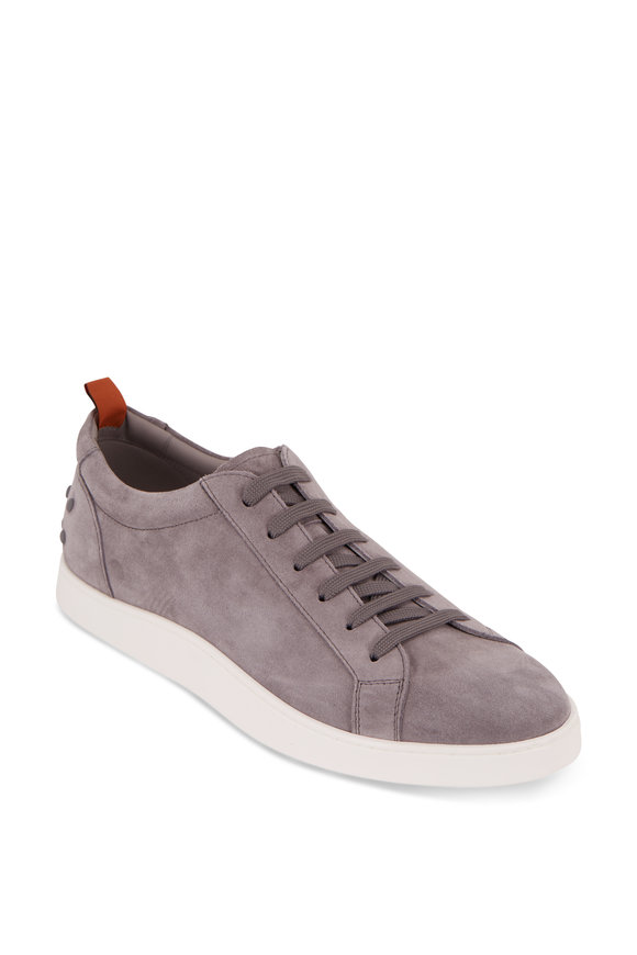 Tod's Gommini Casetta Gray Suede Low-Top Sneaker