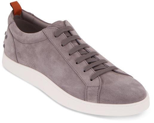 Tod's Gommini Casetta Gray Suede Low-Top Sneaker