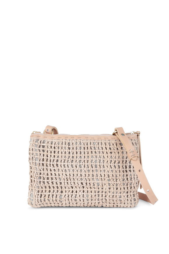 Henry Beguelin Zedda Natural Leather Woven Crossbody
