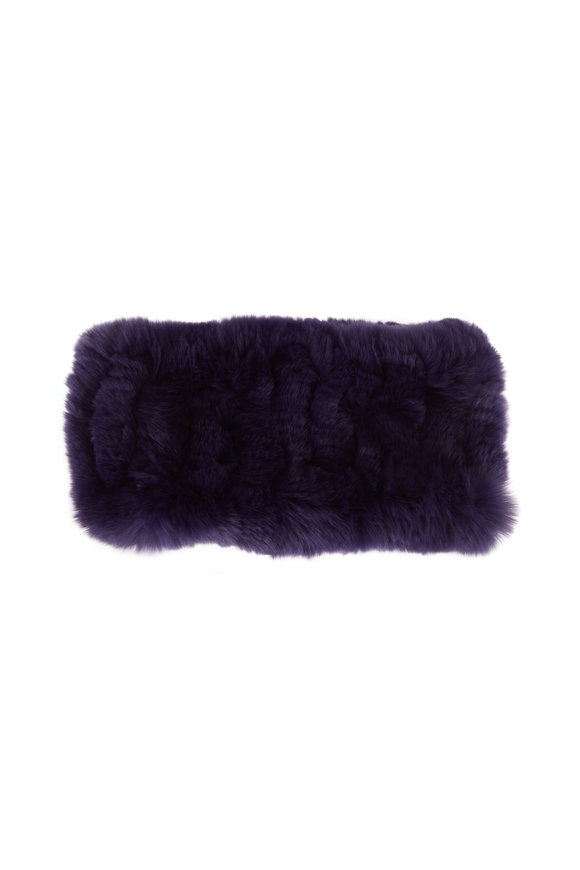 Viktoria Stass Purple Rex Knit Headband