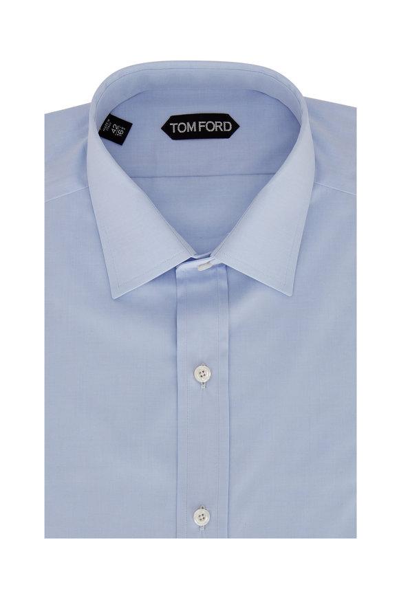 Tom Ford Solid Light Blue Poplin Dress Shirt