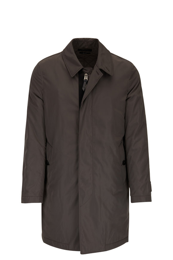 Tom Ford Khaki Green Rain Coat