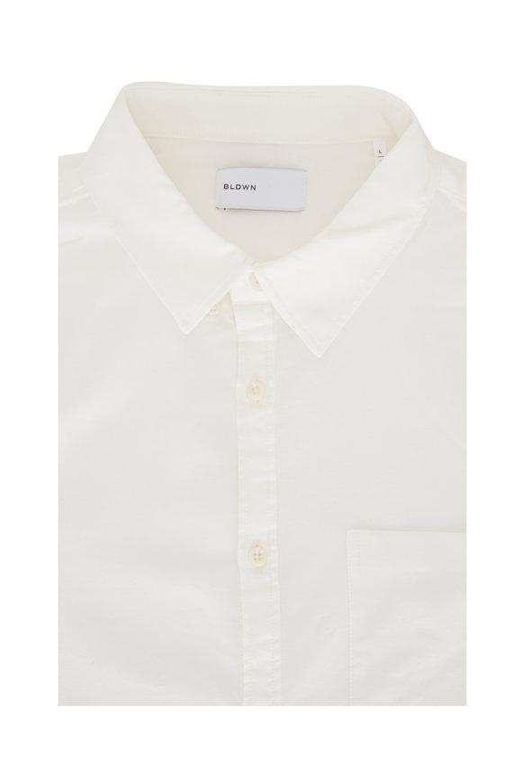 BLDWN Classic Cori White Woven Sport Shirt