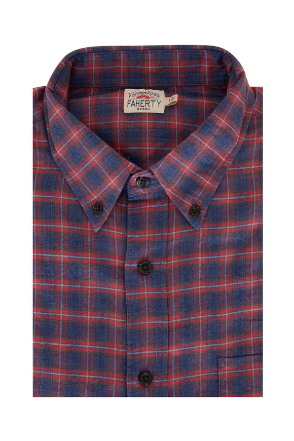Faherty Brand Everyday Festive Check Button Down Shirt